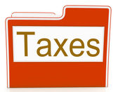 Taxes File Represents Excise Irs And Organization — Foto Stock