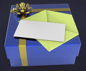 Gift Tag Represents Blank Space And Box — Stock Photo