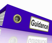 File Guidance Indicates Binder Administration And Guiding — Stock Photo