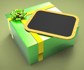 Gift Tag Means Empty Space And Copy — Stock Photo