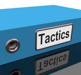 Tactics File Shows Strategy Schemes And Paperwork — Stock Photo