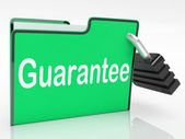 Guarantee Security Shows Private Privacy And Warranteed — Stock Photo