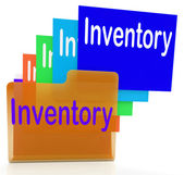 Inventory Files Indicates Paperwork Document And Folder — Zdjęcie stockowe