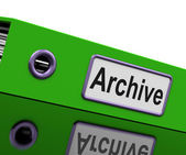 Archive File Means Archives Business And Storage — Stock Photo