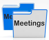 Meetings Files Shows Conference Organization And Folders — Foto Stock
