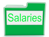 File Salaries Indicates Business Wage And Stipend — Foto Stock