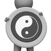 Yin Yang Means Ying Tao And Display — Stock Photo