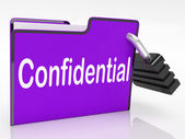 Confidential Security Means Restricted Organize And Confidential — Stock Photo
