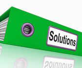 Solutions File Indicates Business Administration And Paperwork — 图库照片