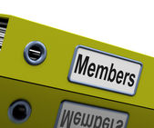 File Members Means Join Us And Admission — Stock Photo
