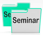 Files Seminar Indicates Workshop Folder And Organize — Stock Photo