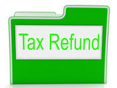 Tax Refund Shows Taxes Paid And Business — Stockfoto
