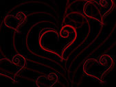 Heart Background Indicates Valentine Day And Backdrop — Stock Photo