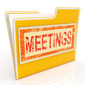 Meetings File Means Agm Document And Paperwork — 图库照片