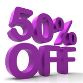 Fifty Percent Off Indicates Closeout Save And Clearance — Stock Photo