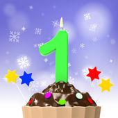 Festa di compleanno indica gioia e festa felice — Foto Stock