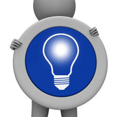 Light Bulb Represents Sign Lightbulb And Invention — 图库照片