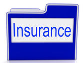 File Insurance Represents Folders Administration And Insure — Stock Photo