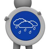 Rain Sign Indicates Display Squally And Squall — Stock Photo