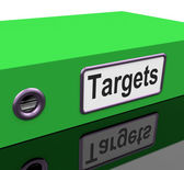 Targets File Indicates Document Administration And Aiming — Stock Photo