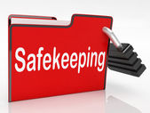 Security Safekeeping Represents Restricted Encryption And Organi — Stock Photo