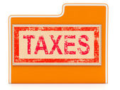 Taxes File Indicates Administration Duties And Duty — Stock Photo