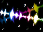 Sound Wave Means Soundwaves Graph And Acoustic — Stock Photo