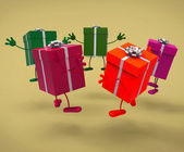 Celebration Giftboxes Means Gift-Box Occasion And Celebrate — Foto Stock