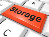 Data Storage Indicates Hard Drive And Archive — 图库照片