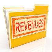 Revenues File Represents Business Document And Folder — Stock Photo