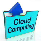 Cloud Computing Means Network Server And Business — Stock Photo