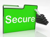 Secure File Indicates Business Organize And Protect — Stock Photo