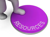 Resources Switch Shows Funds Control And Finances — Foto Stock