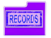 Data File Indicates Facts Docs And Document — Stock Photo