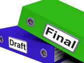 Final Draft Represents Document Key And Complete — Stockfoto