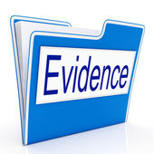 Evidence File Represents Folders Paperwork And Document — Foto Stock