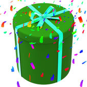 Celebrate Giftbox Means Present Celebration And Presents — Stock Photo