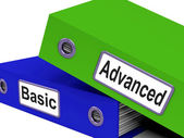 Advanced Basic Represents Pricing Plan And Administration — Stock Photo