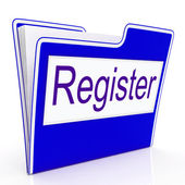 File Register Indicates Sign Up And Membership — Stock Photo