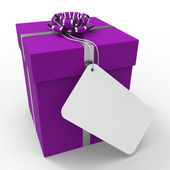 Gift Tag Indicates Text Space And Blank — Stock Photo
