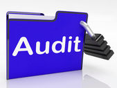 Audit Files Represents Inspection Organized And Organize — Stock Photo