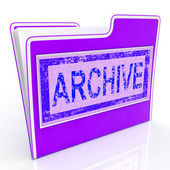 Archive File Indicates Organized Folders And Document — Stockfoto