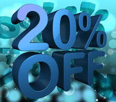 Twenty Percent Off Shows Merchandise Reduction And Offer — Stock Photo