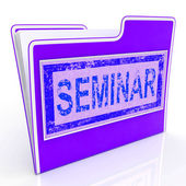 File Seminar Shows Speaker Forums And Document — Stock Photo