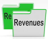 Revenues Files Indicates Profits Dividends And Paperwork — Stock Photo