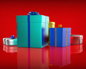 Celebration Giftbox Indicates Joy Giftboxes And Occasion — Stock Photo
