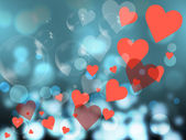 Hearts Background Represents Valentines Day And Backdrop — Stock Photo