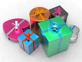 Giftbox Giftboxes Indicates Celebrate Celebration And Party — Stock Photo