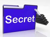 File Secret Shows Encryption Correspondence And Unauthorized — Stock Photo