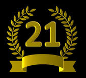 Twenty First Represents Birthday Party And Anniversaries — Stock Photo